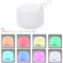 Load image into Gallery viewer, 500ml US Plug Essential Oil Aroma Diffuser Aromatherapy LED Ultrasonic Liquid Air Fresheners