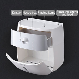 Waterproof Toilet Paper Holder For Toilet Paper Towel Holder Bathroom Dispenser Storage Box Toilet Roll Holder Wall Mounted