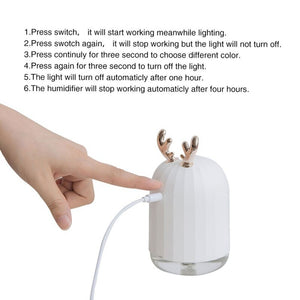 220ML USB Ultrasonic Liquid Air Fresheners Humidifier Aroma Essential Oil Spread LED Night Lamp Home Car Fogger Mist Maker