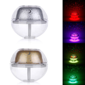 USB Night Lamp Air Fresheners Projector Air Humidifier Desktop Aroma Diffuser Ultrasonic Mist Maker