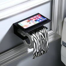 Load image into Gallery viewer, Toilet Paper Holder Sanitary Paper Roll Holder Paper Towel Holder Mobile Phone Bathroom Multi-function Shelves
