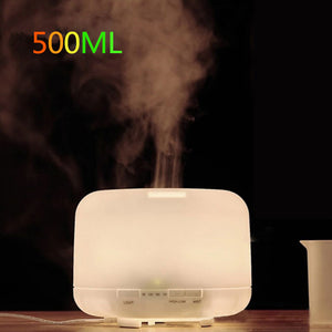 500ml US Plug Essential Oil Aroma Diffuser Aromatherapy LED Ultrasonic Liquid Air Fresheners