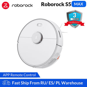 Roborock S5 Max Xiaomi Robot Vacuum Cleaner for Home Smart Sweeping Robotic Cleaning Mope Upgrade of Roborock S50 S55 Mi Robot
