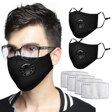Load image into Gallery viewer, 2pcs Anti Haze Mouth Mask Disposable Cotton Face Mask Pm2.5 Anti Pollution Reusable Pm2.5 Breathing Unisex Mouth Mask In Stock