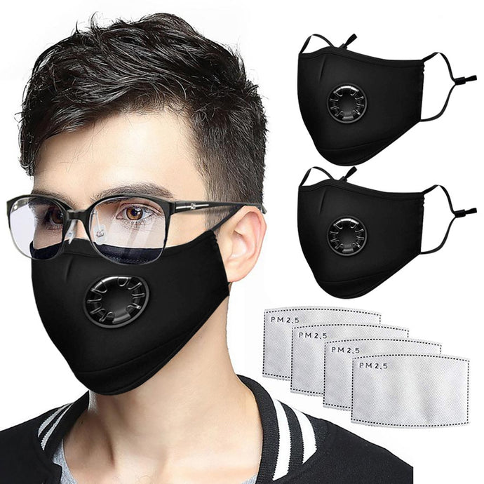2pcs Anti Haze Mouth Mask Disposable Cotton Face Mask Pm2.5 Anti Pollution Reusable Pm2.5 Breathing Unisex Mouth Mask In Stock