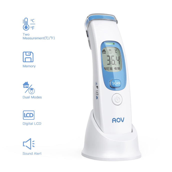 AOV Non Contact Infrared Temperature Gun With Fever Indicator - FDA Approved