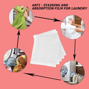 24pcs Anti Dyed Cloth Washing Machine Use Dyeing Proof Color Absorption Sheet Cleaning Laundry Anti-Staining Film