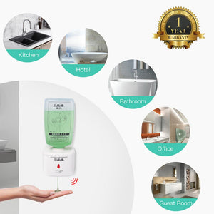 SVAVO Wall Automatic Liquid Soap Dispenser 750ml Intelligent Smart Hand Sanitizer Shower Liquid Soap Dispenser for Bathroom