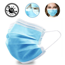 Load image into Gallery viewer, 50Pcs/Lot Disposable Masks 3-layer Non-Woven Masks Anti Virus Dust Mouth Face Mask Protection Soft Protective Mask