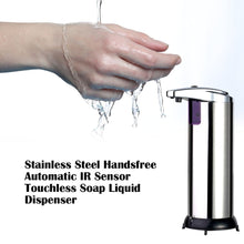 Load image into Gallery viewer, Stainless Steel Sensor Touchless Automatic Liquid Soap / Hand Sanitizer Dispenser