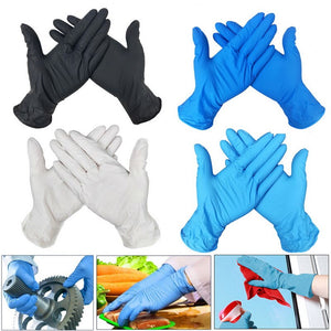 100pc Disposable Gloves Latex Dishwashing/Kitchen/Medical /Work/Rubber/Garden Gloves Universal For Left And Right Hand 4 Color