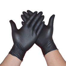 Load image into Gallery viewer, Nitrile Gloves Black 6pcs/lot Food Grade Waterproof Allergy Free Medical Disposable Work Safety Gloves Nitrile Gloves Mechanic