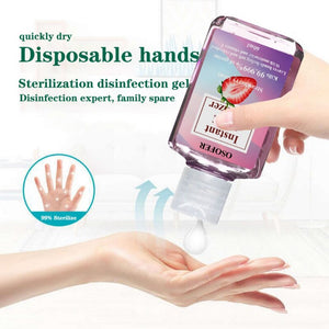 60ml Travel Portable Mini Hand Sanitizer Anti-Bacteria Moisturizing Fruit-Scented Disposable Hand Wash Gel