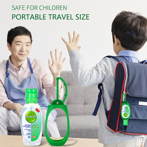 3 pcs 50ml Anti-Bacteria Hand Sanitizer Gel + 1 Silicone Sanitizer Holder No-clean Hand Gel Instant Waterless Handgel