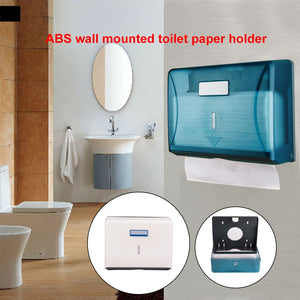 Wall Mounted Easy Install Tissue Rack ABS Office Hand Towel Dispenser Toilet Paper Holder For Bathroom Home Decoration Hotel