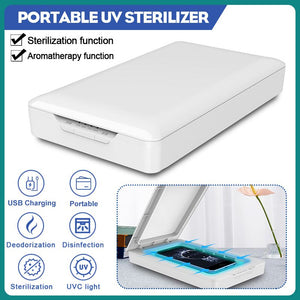 UV Phone Sterilizer Box Charge Stand Jewelry Phone Cleaner Personal Sanitizer Disinfection Cabinet Aromatherapy Esterilizador