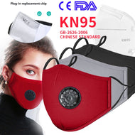 PM2.5 Mouth Mask Anti-dust Mask Reusable Mask with Breathing Valve KN95 Masks Washable Mouth N95 Face Masks Filter Pad In Stock