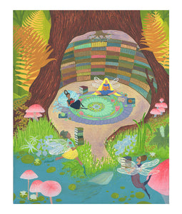 Fairy Library - 8x10 Art Print
