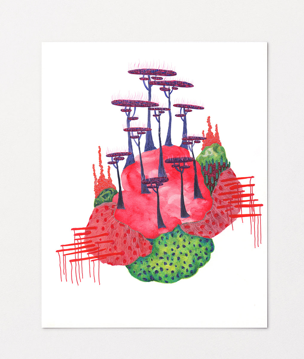 """Pink Coral Ecosystem"" Art Print"
