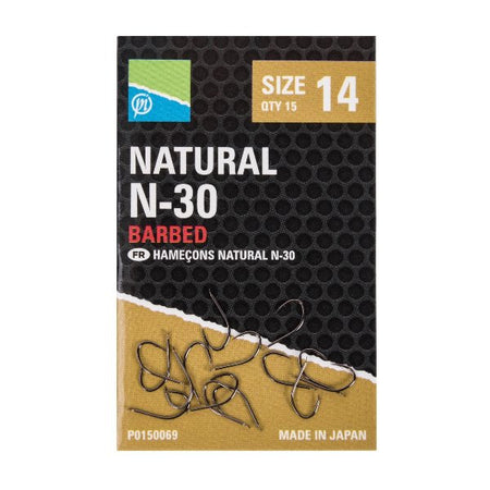 ANZUELO NATURAL N-3O PRESTON
