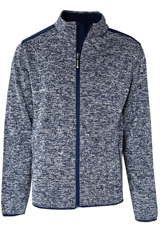 KNITTED MELANGE FLEECE WITH SOFT SHELL CONTRAST