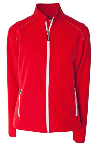 LADIES WOVEN FOUR-WAY STRETCH JACKET WITH DWR FINISH
