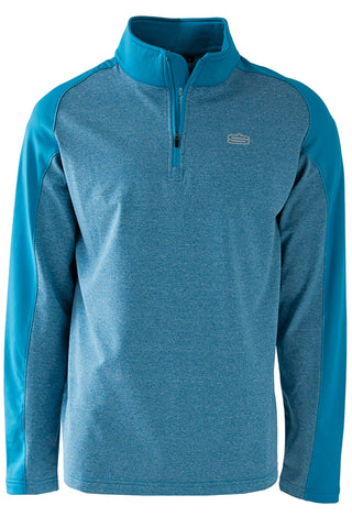 MENS POLY SPANDEX PULLOVER IN PLAIN AND MELANGE COMBO