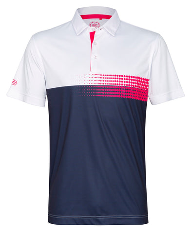 COLOUR BLOCK WITH DOTS DRY TECH PERFORMANCE GOLFER