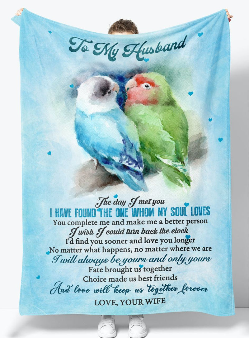 To My Husband - From Wife - Fleece Blanket Gift BWH010