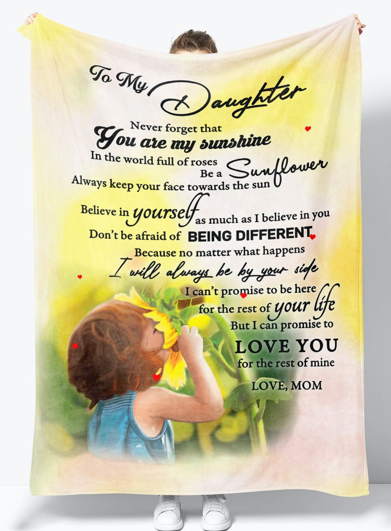 To My Daughter - From Mom - Fleece Blanket Gift BMD018