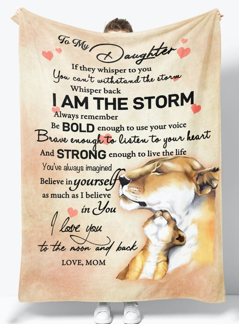 To My Daughter - From Mom - Fleece Blanket Gift BMD019