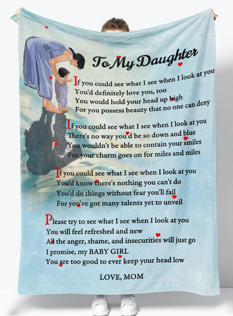Gift For Daughter - From Mom - Fleece Blanket BMD033