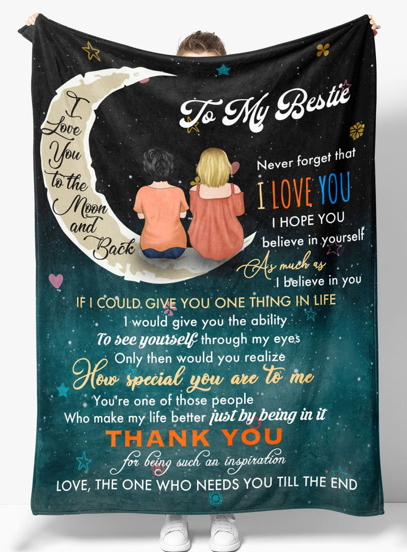 Gift For Bestie - Best Friends - Fleece Blanket BFF005