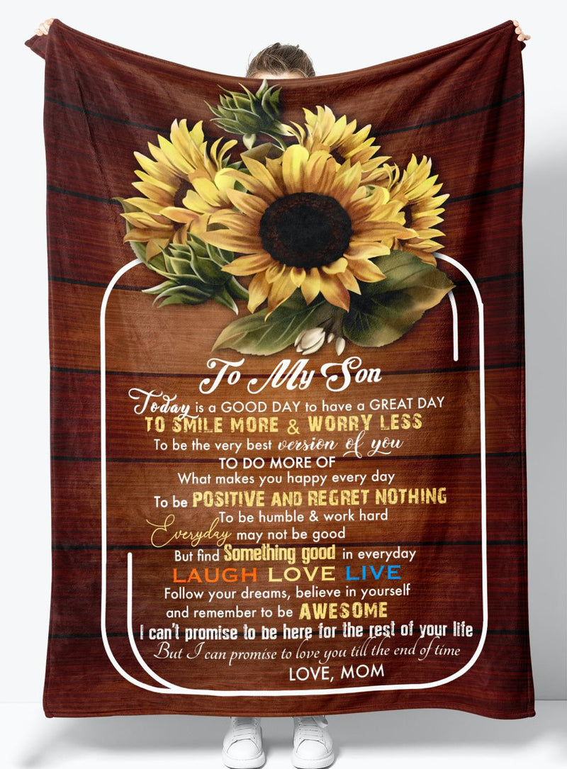 Gift For Son - From Mom - Fleece Blanket BMS062