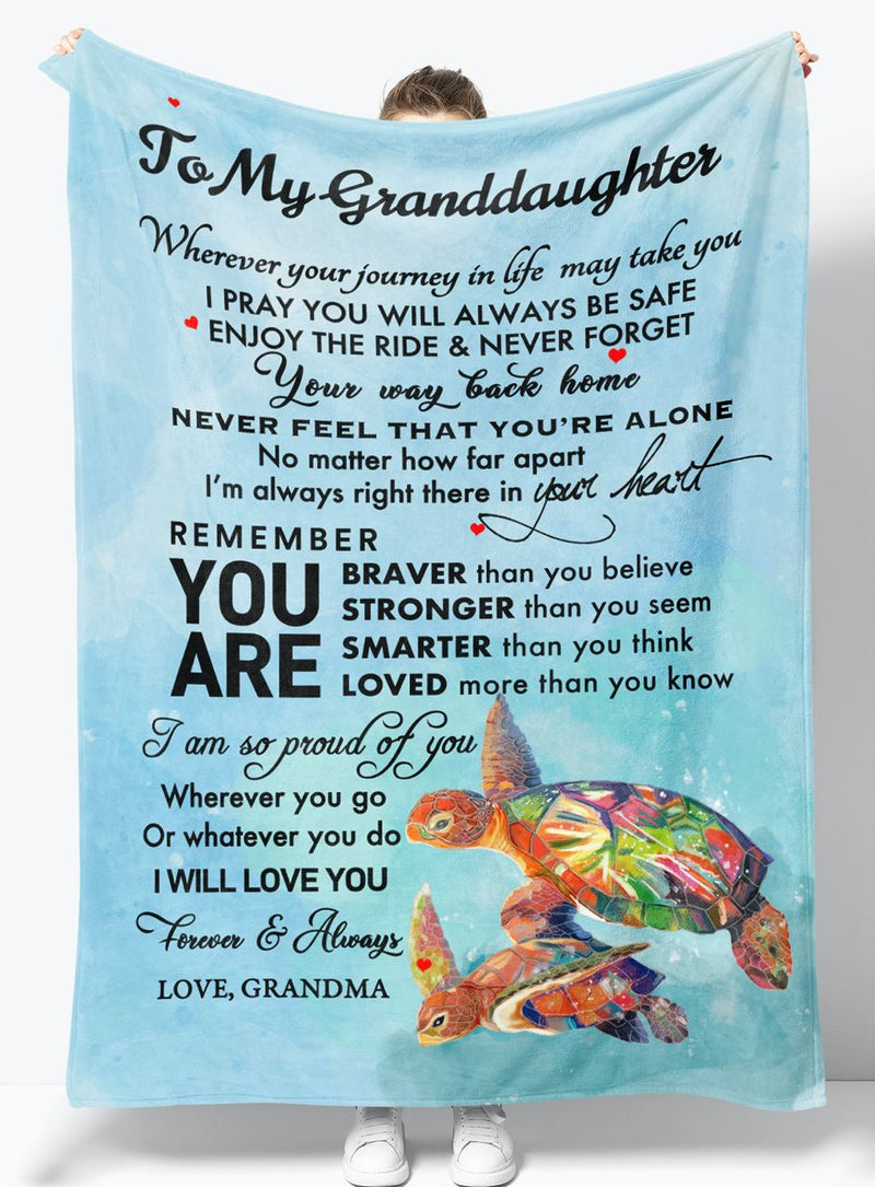 My Granddaughter - From Grandma - Fleece Blanket Gift BGMD062