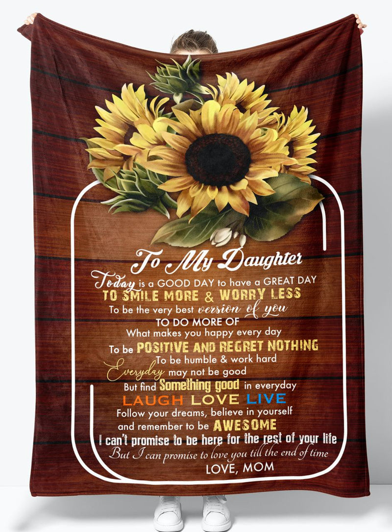 To My Daughter - From Mom - Fleece Blanket Gift BMD071