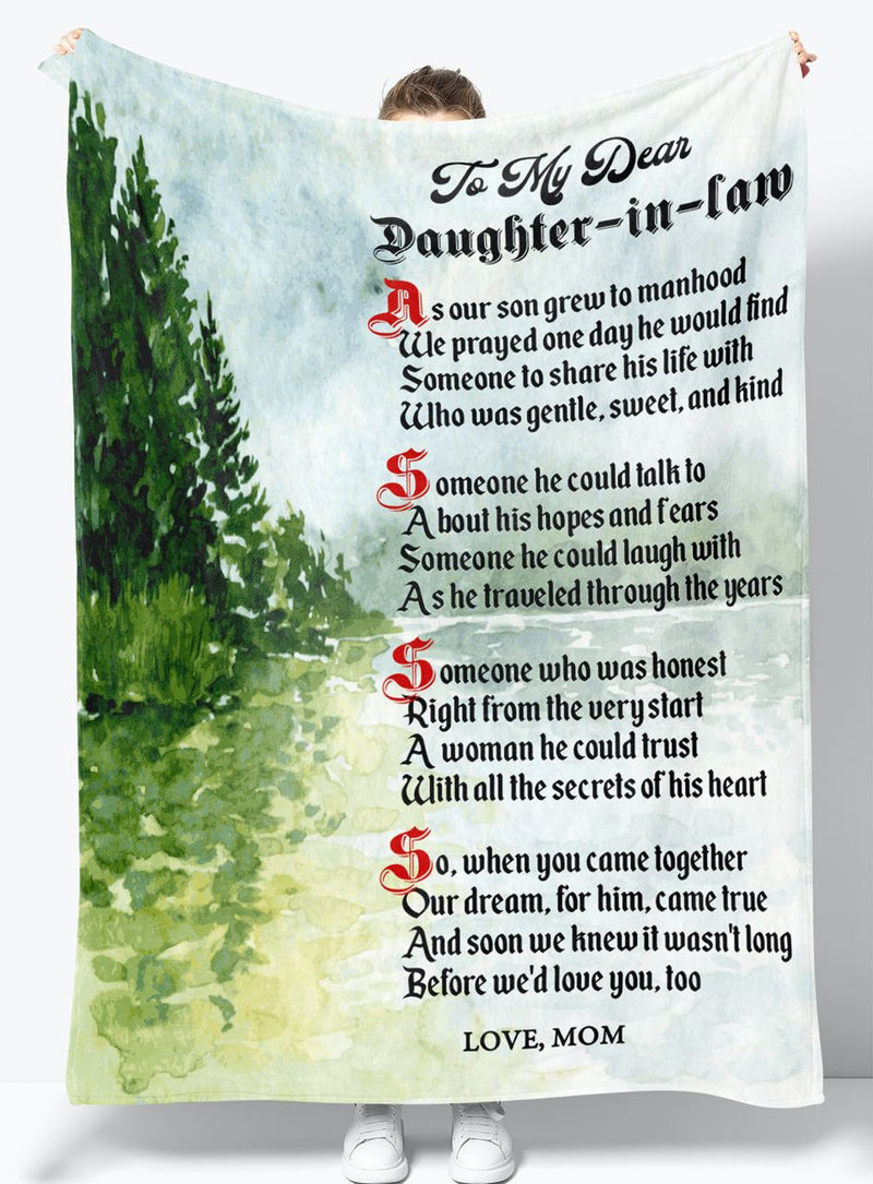 To My Daughter-in-law - From Mom - Fleece Blanket Gift BMD072