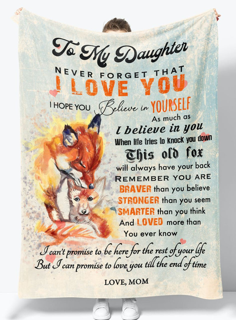 Gift for Daughter - From Mom - Fleece Blanket BMD083