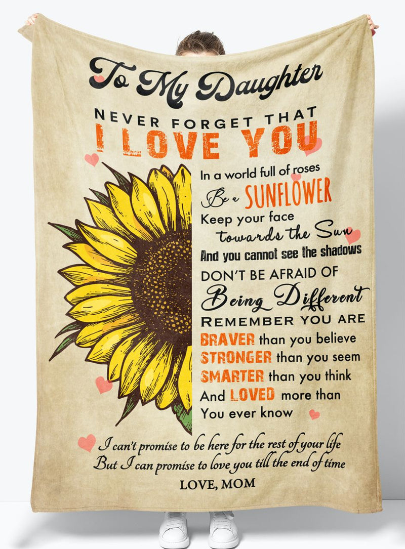 To My Daughter - From Mom - Fleece Blanket Gift BMD089