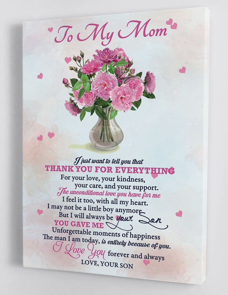 Gift For Mom - From Son - Framed Canvas Gift SM006