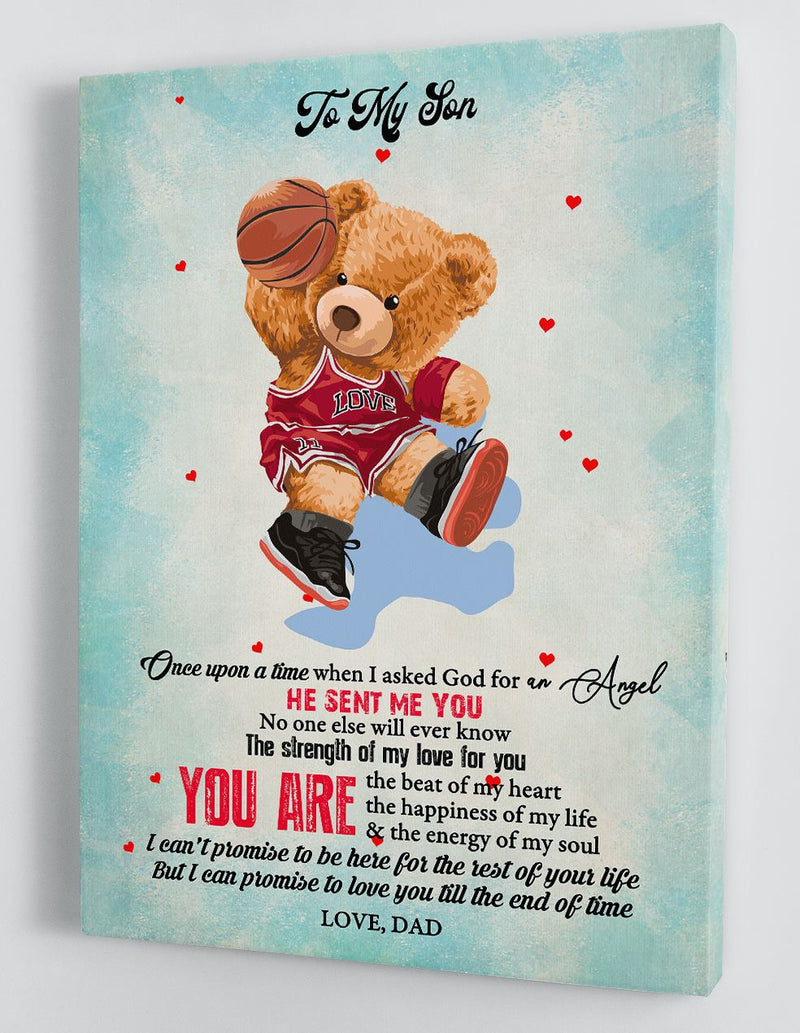 To My Son - From Dad - Framed Canvas Gift DS012