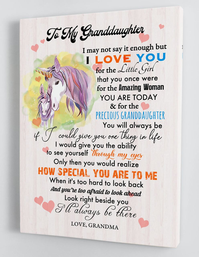Gift For Granddaughter - From Grandma - Framed Canvas GMD081