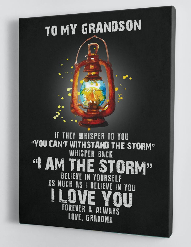 Gift For Grandson - From Grandma - Framed Canvas GMS077