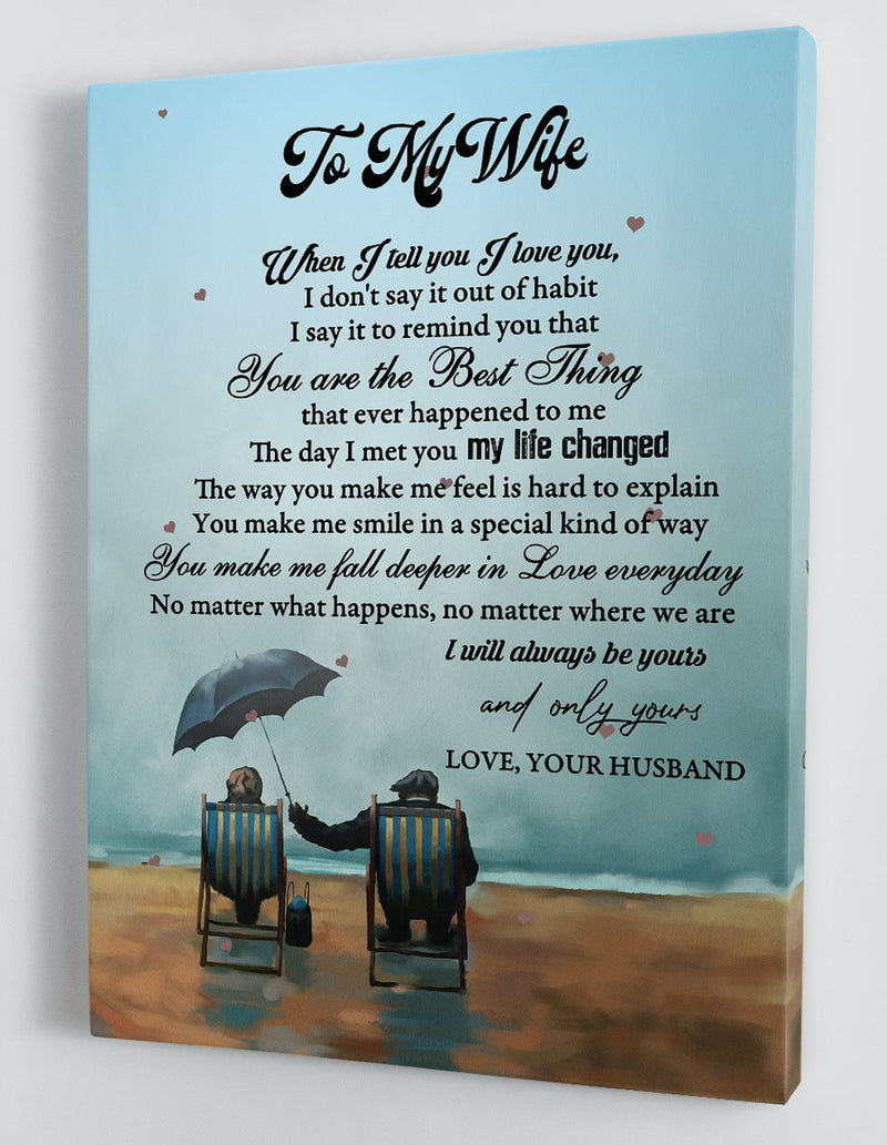 To My Wife - From Husband - Framed Canvas Gift HW012