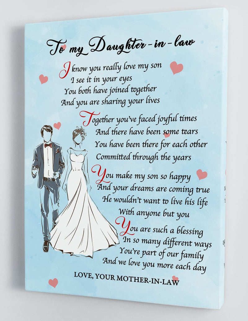 To My Daughter-in-law - From Mother-in-law - Framed Canvas Gift MD091