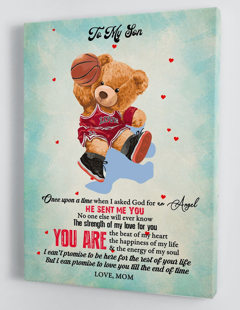 To My Son - From Mom - Framed Canvas Gift MS082