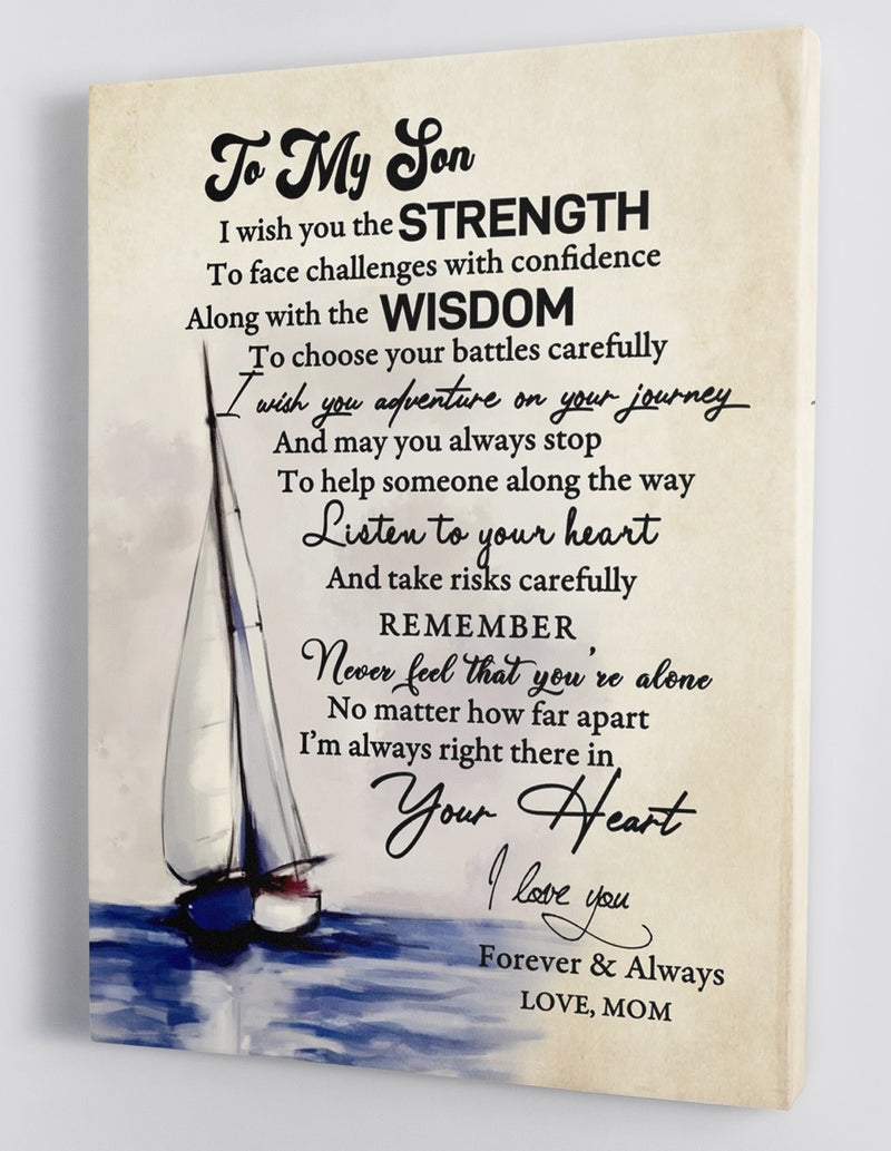 To My Son - From Mom- Framed Canvas Gift MS016
