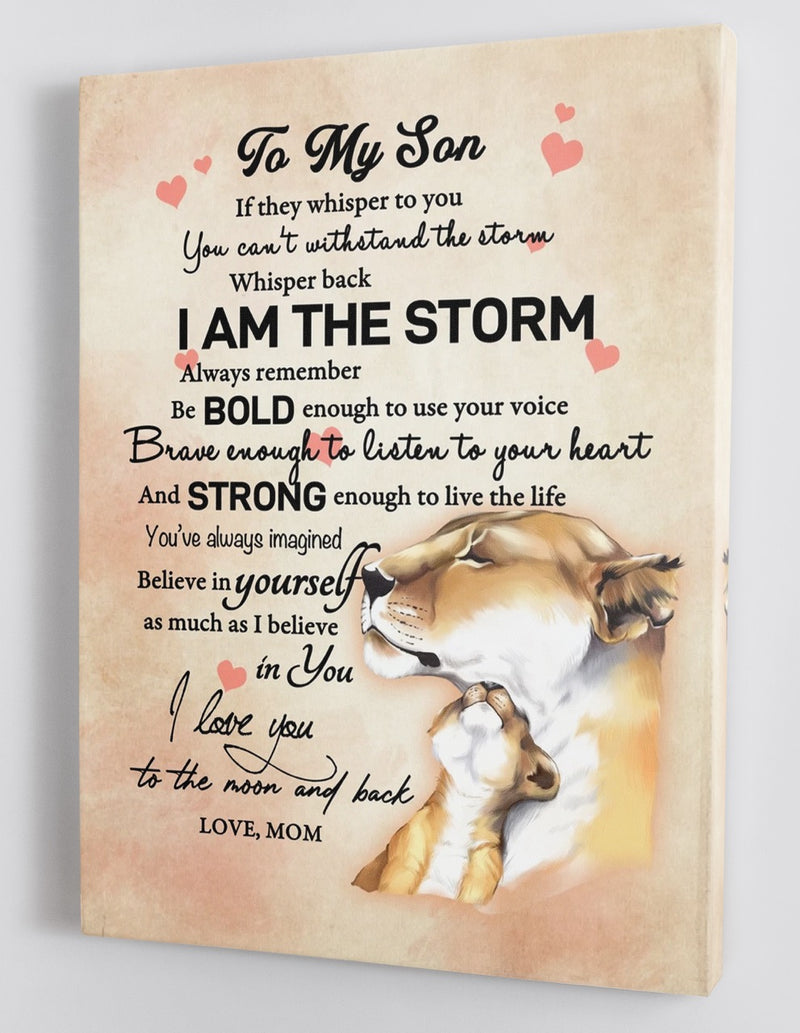 To My Son - From Mom - Framed Canvas Gift MS011