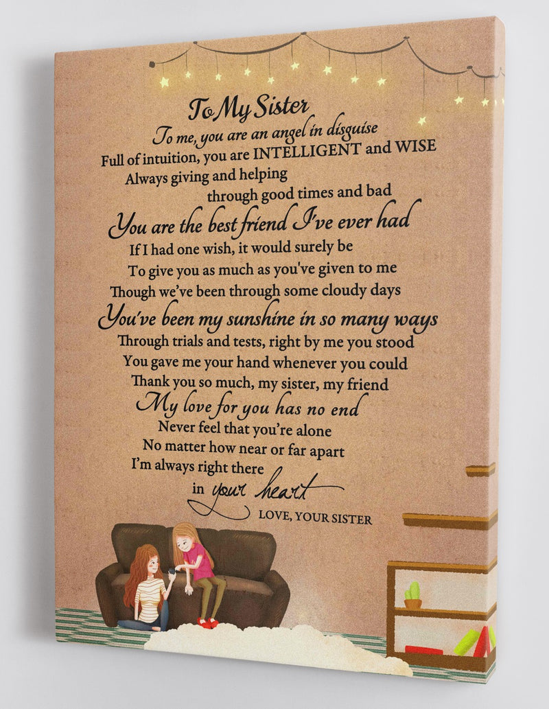 To My Sister - Love From Your Sister - Framed Canvas Gift SS001