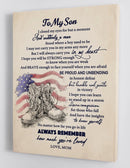 To My Son - From Mom - Military Framed Canvas Gift MS023